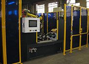robotic welding cell fencing assembly machine cell automation custom machine HMI controls
