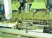 gantry assembly machine automated robotic welding cell axle manufacturing high volume production