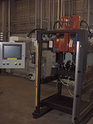 rivet operator station hmi machine control pneumatic hydraulic riveting machine facility integration
