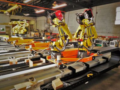 Robots on Positioners Flexible Manufacturing