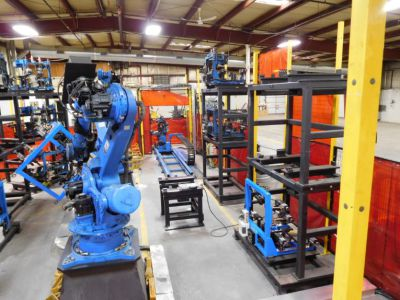 Supersized Custom Robotic Weld Cell Buildout